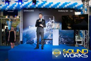 Старт продаж samsung galaxy s 8 техническое обеспечен ие компания SoundWorks Сцена свет звук
