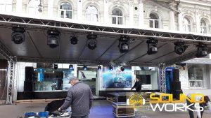 Старт продаж samsung galaxy s 8 техническое обеспечение компания SoundWorks Сцена свет звук
