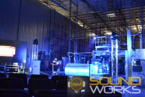 Открытие завода Avery Dannison техническое обеспечение компания SoundWorks